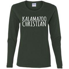 Handwritten G540L Gildan Ladies' Cotton Longsleeve T-Shirt