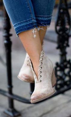 Matisse - Shoe - Matisse Alabama Bootie - Ivory - Cheeky Peach Boutique - 1
