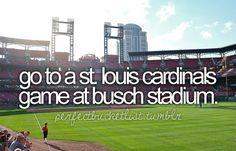 Check! I saw Cards vs Cubs...go RED BIRDS