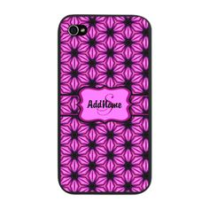 Pink and Black Floral Pattern Per iPhone Snap Case
