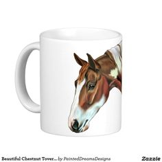 Beautiful Chestnut Tovero Paint Horse Coffee Mug