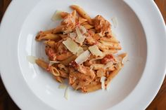 Creamy Italian Chicken with Penne (pressure cooker) - Fit Happy Foodie Instant Pot Pressure Cooker, Pressure Cooker Recipes, Pressure Cooking, Dump Meals, One Pot Meals, Main Meals, Creamy Italian Chicken, Tuscan Chicken, Instant Pot Dinner Recipes