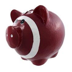 Funny Football Pig Piggy Bank Pigskin Sports, Brown (Plastic)