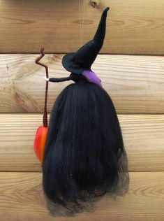 Goth witch felted by jade shen, pagan hedge witch, black kitchen witch, magick goth doll, wiccan witch gift best witches doll goth gift doll - Elf Kendal fairies England