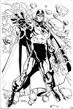 comicwarz:  Magneto Sketch by Humberto Ramos