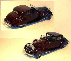 1/24 Scale 1938 Rolls Royce Phantom III by the Danbury Mint - Diecast Model Cars