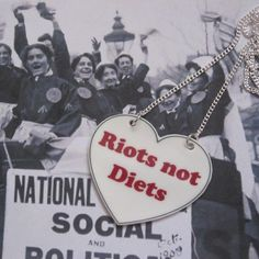 Feminist necklace - Riots not Diets