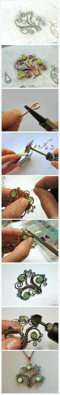 awesome DIY Bijoux - ... #WireWrapJewelry