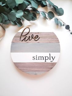 Handmade Signs made from Reclaimed Wood by OnLilacLane Elegant Cursive Fonts, Fixer Upper Living Room, Living Rooms, Decor Crafts, Diy Crafts, Front Door Signs, Diy Wood Signs, Pallet Signs, Room Signs