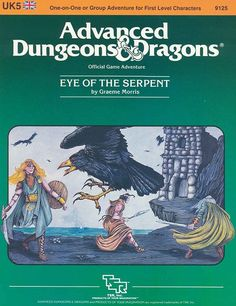 UK5 Eye of the Serpent (1e) | Book cover and interior art for Advanced Dungeons and Dragons 1.0 - Advanced Dungeons & Dragons, D&D, DND, AD&D, ADND, 1st Edition, 1st Ed., 1.0, 1E, OSRIC, OSR, Roleplaying Game, Role Playing Game, RPG, Wizards of the Coast, WotC, TSR Inc. | Create your own roleplaying game books w/ RPG Bard: www.rpgbard.com | Not Trusty Sword art: click artwork for source