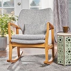 Balen Mid Century Modern Fabric Rocking Chair (Light Grey... https://www.amazon.com/dp/B07576XDG2/ref=cm_sw_r_pi_dp_x_WjpiAb90AX7ED