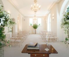 All set for a Ceremony at Iscoyd Park - Country House Wedding Venue in Shropshire