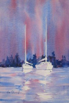 Watercolor Sailboats | Sailboats - #32, 33, & 34 - Original Watercolor Paintings