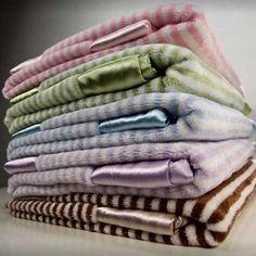 Mini Stripe Velour Blanket