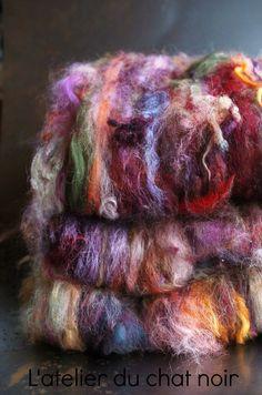 EXTREME N 3 nappe de laine texturée par LAtelierduChatNoir sur Etsy, €30,00