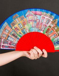 Vintage Fans, Umbrellas Parasols, Ancient Egypt, African Fashion, Hand Fans, Crochet, Ideas, Flamingo, Watercolor Painting