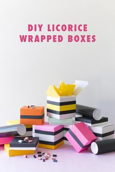DIY licorice wrapping paper