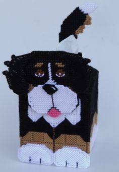 everything plastic canvas | Plastic Canvas-Bernese Mountain Dog Tissue Topper Plastic-Canvas-Kits ...