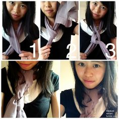 Knot Just A Scarf Tutorial #30: Chain Row Scarf. It's really simple and you can do it with thick or thin fabric scarves! Just tie a row of loose overhand knots.