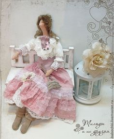 Doll in pink and white dress..very pretty.