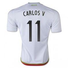 5c0387b4a58 Fotbalové Dres Mexiko 2016 Carlos Vela 11 Venkovní Krátký Rukáv levně Soccer  Uniforms
