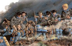 Swedish Artillery crew in battle
