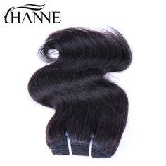 One Piece Only 50g/Bundle Short Size 8Inch Brazilian Virgin Hair Body wave Human Hair Extension 100% Human Hair Weave Hanne hair