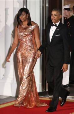 #44thPresident #BarackObama and #FirstLady #MichelleObama State Dinner reception White House, October 18, 2016