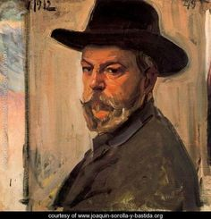 Self-portrait with a hat - Joaquin Sorolla y Bastida - www.joaquin-sorolla-y-bastida.org Cowboy Hats, Painting, Art, Fashion, Painting Videos, Paintings, Moda, Western Hats, Kunst