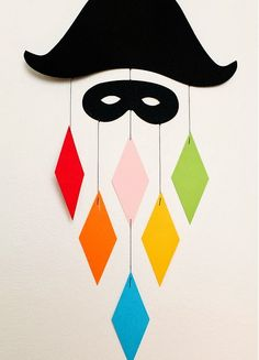 We both have this mobile and never tire of it. > photo by Nina Ruud carnaval Monsieur Carnaval mène le bal . Decoration Party Ideas, Decoration Creche, Ideas Party, Diy And Crafts, Crafts For Kids, Arts And Crafts, Paper Crafts, Mobiles, Theme Carnaval