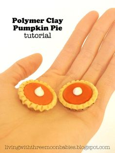 Polymer Clay Pumpkin Pie and with a bottle cap too? So Adorable