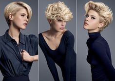 This Pin was discovered by Kri Stylish Short Haircuts, Short Hairstyles Fine, Short Curly Haircuts, Short Haircut Styles, Curly Hair Cuts, Medium Hair Cuts, Curly Hair Styles, Short Grey Hair, Short Hair With Layers