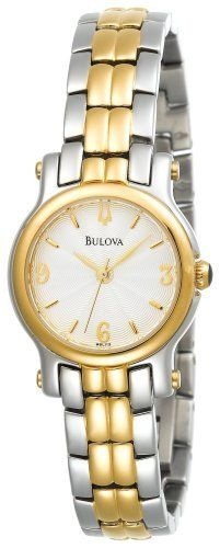 Bulova Women's 98L113 Two-Tone Bracelet Watch Bulova. $119.95. Quality Japanese-Quartz movement. Stainless-steel case; Silver dial. Water-resistant to 99 feet (30 M). Mineral crystal. Save 47% Off!
