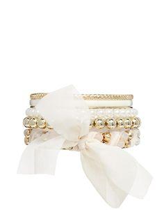 New Look Sparkle Ball Bangle Multipack Bracelet