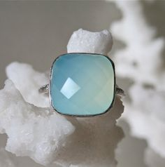 Aqua Chalcedony Ring - I got this for christmas, and it basically completes me.