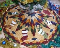 free quilted tree skirt patterns | Patterns For Christmas Tree Skirts – Free Pattern Cross Stitch