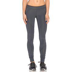 SOLOW Seamed Basic Running Legging Activewear ($74) ❤ liked on Polyvore featuring activewear, activewear pants, active and solow