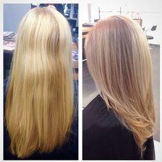 #ShareIG Before & After #balayage #blonde #blushes #btcpics #babylights #balayagehair #balayageombre #behindthechair #pureology #longhair #lorealcanada #lorealprofessional #longlayers #kerastase #kerastasecanada #dialight #diarichesse #shineblonde #colourfanatic #colorcorrection #colourcorrection #blonde #naturalhair #hair #hairstylist #ottawahair