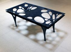 this table is made out of fabric so is quite different I like this design