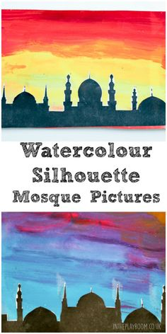 Watercolour Mosque Silhouette Pictures