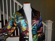 Multi-Colored Printed Blazer