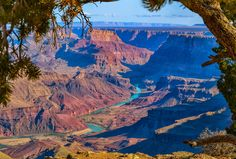 Nieuw in mijn Werk aan de Muur shop: De colorado rivier in de Grand Canyon