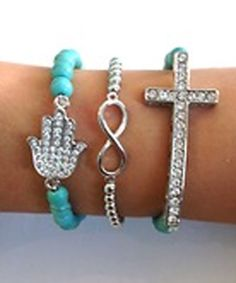 3 stacked bracelet set