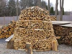 "How to build a beehive shaped ""Holz Hausen"" wood pile (Video)"