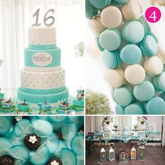 {Party of 5} Something Blue, Rainbow Dedication Party, July 4th, Sweet Sixteen & Pastel Floral Dessert Table
