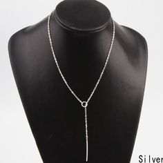 New Silver Chain Bar Necklace