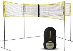 CROSSNET Four Square Volleyball Net & Game Set - Volleyball Set for Backyards - Yard Games for Kids and Adults Game Four Square Volleyball - Includes Poles, Carrying Backpack Volleyball Serving Drills, Volleyball Practice, Volleyball Setter, Volleyball Training, Volleyball Tips, Volleyball Players, Basketball Teams, Volleyball Positions, Yard Games For Kids