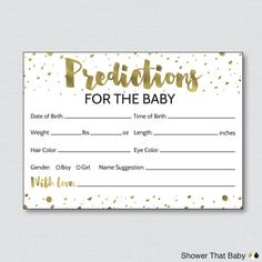 Free printable baby shower prediction cards fun baby for Guess the baby weight template