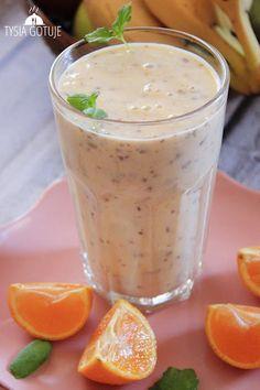 Fruit Smoothies, Smoothie Recipes, Shake, Cantaloupe, Blog, Pudding, Breakfast, Fitness, Desserts
