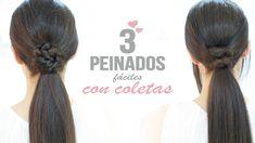 Peinados fáciles con coletas